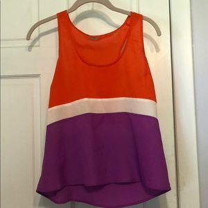 Color block tank top. PERFECT for summer!!